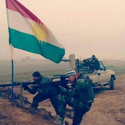 علم كوردستان بيشمركة